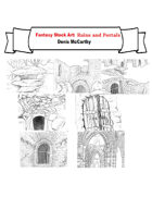 Fantasy Stock Art: Ruins and Portals