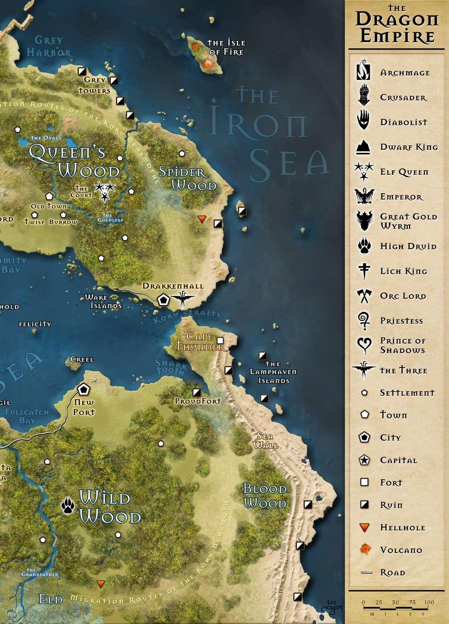 13th Age Dragon Empire Map   Pelgrane Press | 13th Age