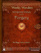 Weekly Wonders - Intriguing Crimes Volume I - Forgery