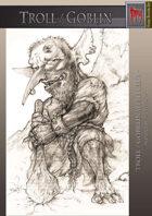 Troll Goblin With Club Monochrome Version
