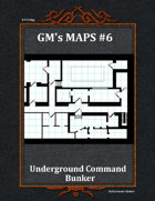 GM's Maps #6: Underground Command Bunker