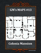 GM's Maps #13: Colonial Mansion