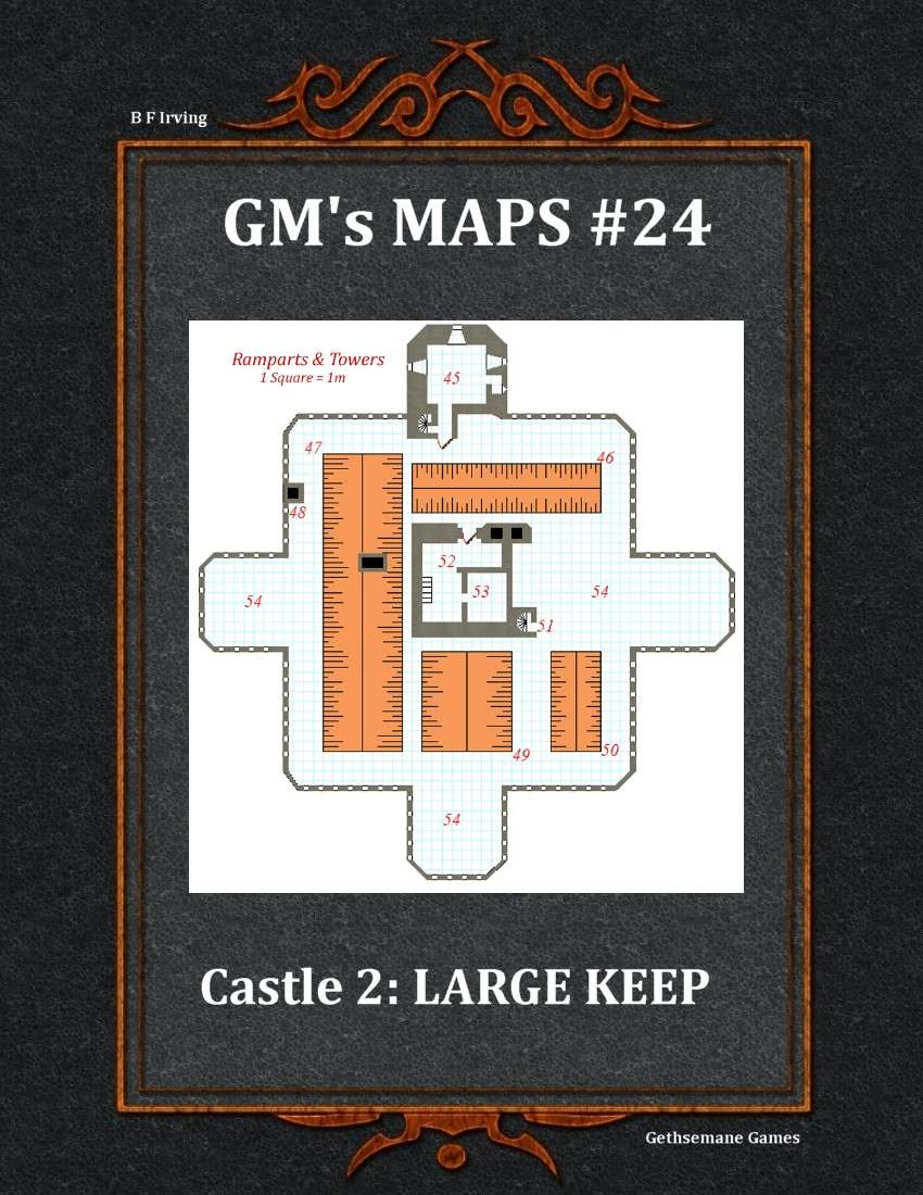 GM\'s Maps #24: Castle 2: Large Keep - Gethsemane Games | Post ...