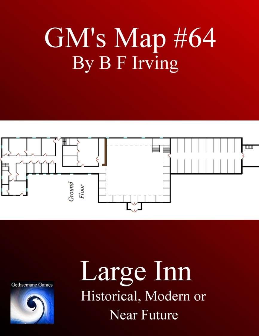 GM\'s Maps #64: Large Inn - Gethsemane Games | GMs Maps | RPGNow.com
