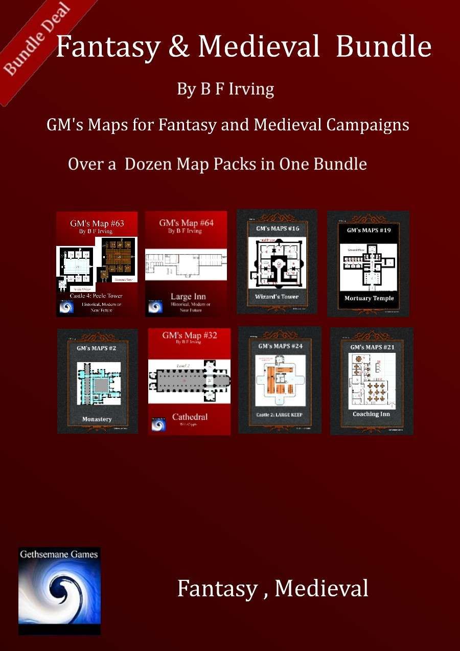 Fantasy and Medieval Map Bundle [BUNDLE] - Gethsemane Games | GMs Maps |  DriveThruRPG.com