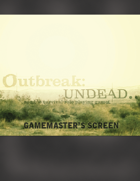 Outbreak: Undead.. 2nd Edition Gamemaster Screen Inserts **Kickstarter Exclusive**