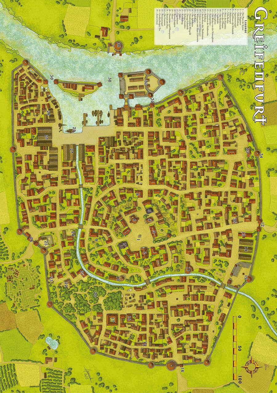 das schwarze auge karte Greifenfurt Karte (PDF) als Download kaufen   Ulisses Spiele | Das