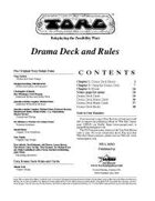 Torg Drama Deck and Rules