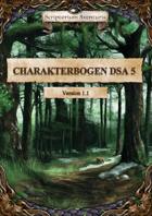 Heldendokument / Charakterbogen DSA 5 - Zusammengefasst/Gekürzt