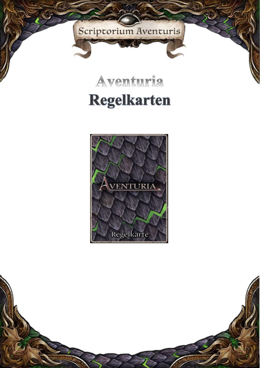 Aventuria - Regelkarten