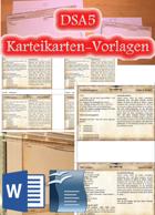 DSA5 - Karteikarten-Vorlagen