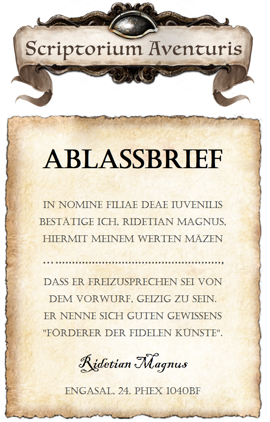 Ablassbriefe Luther
