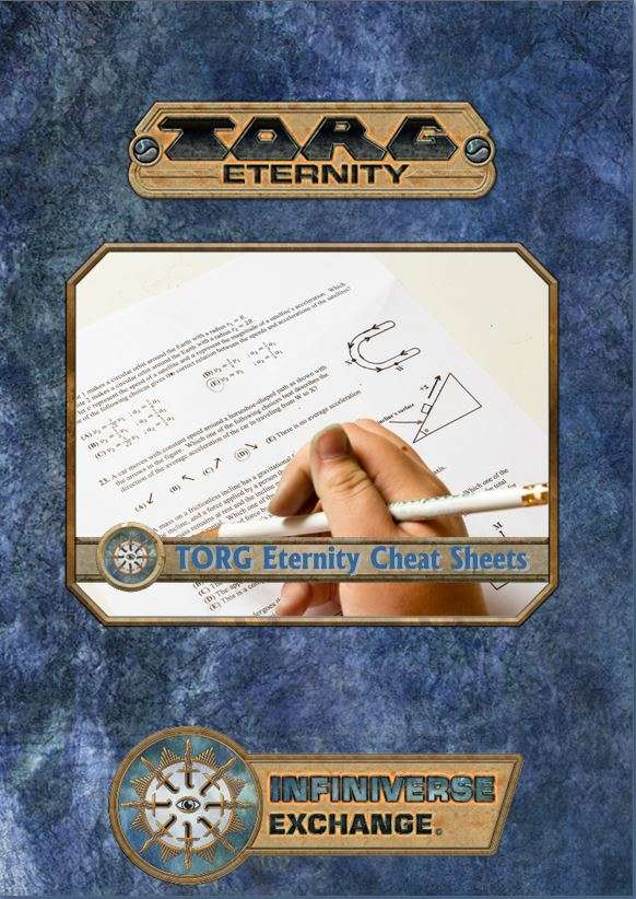 Torg Eternity Cheat Sheets - Ulisses Spiele | Infiniverse Exchange