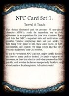 The Dark Eye - NPC Card Set 1 - Travel and Trade