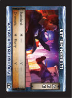 Torg Eternity - Drama Card - Let 'em Have it!
