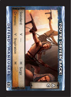 Torg Eternity - Drama Card - You're Driven Back!
