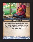 Torg Eternity - Destiny Card - Willpower 7