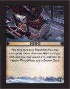 Torg Eternity - Destiny Card - Hero 23