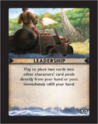 Torg Eternity - Destiny Card - Leadership 50