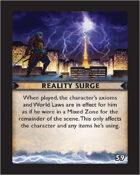 Torg Eternity - Destiny Card - Reality Surge