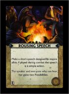 Torg Eternity - Core Earth Cosm Card - Rousing Speech