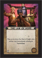 Torg Eternity - Core Earth Cosm Card - The Law of Hope