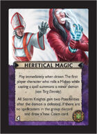 Torg Eternity - Cyberpapacy Cosm Card - Heretical Magic
