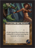 Torg Eternity - Living Land Cosm Card - Survival of the Fittest