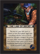 Torg Eternity - Living Land Cosm Card - The Law of Decay