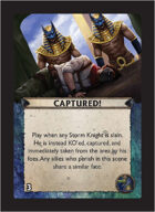 Torg Eternity - Nile Empire Cosm Card - Captured!