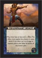 Torg Eternity - Nile Empire Cosm Card - Triumphant Boast