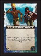 Torg Eternity - Nile Empire Cosm Card - The Law of Action