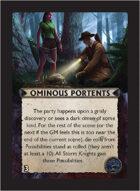 Torg Eternity - Orrorsh Cosm Card - Ominous Portents