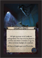 Torg Eternity - Orrorsh Cosm Card - Lights Out!