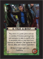 Torg Eternity - Pan-Pacifica Cosm Card - Is that a Bite?