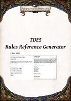 TDE5 Rules Reference Generator