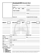 Breachworld Character Sheet