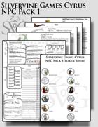 Silvervine Games Cyrus NPC Pack 1