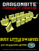 Busy Little Dwarves - Clip On Walls