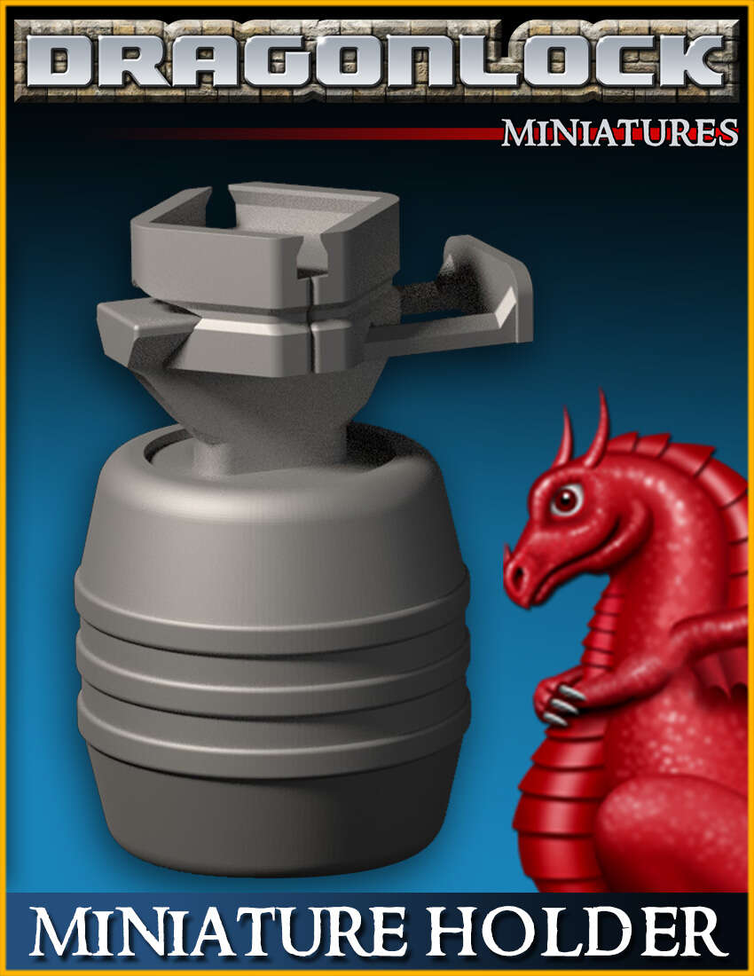 DRAGONLOCK Miniatures: Miniature Painting Holder