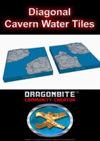 Diagonal Cavern Water Tile