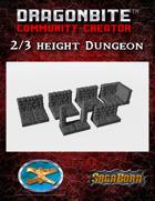 2/3 Height Dungeon Walls