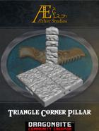 Triangle Corner Pillar