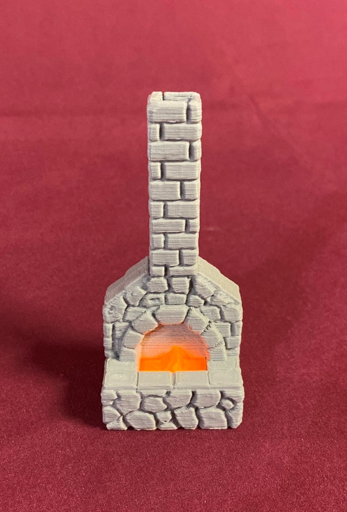 Forge with LED on