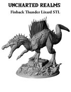 Finback Thunder Lizard (Spinosaurus) STL - 3D Printable Monster