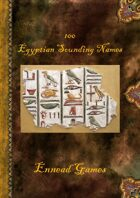 100 Egyptian Sounding Names