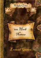 100 Herb Names