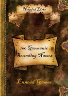 100 Germanic Sounding Names