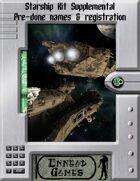 [SSK] - Starship Kit Supplemental - 100 Names & Registrations