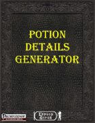 [PFRPG] - Potion Details Generator